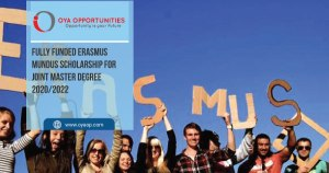 Fully Funded Erasmus Mundus Scholarship for Joint Master Degree 2020/2022