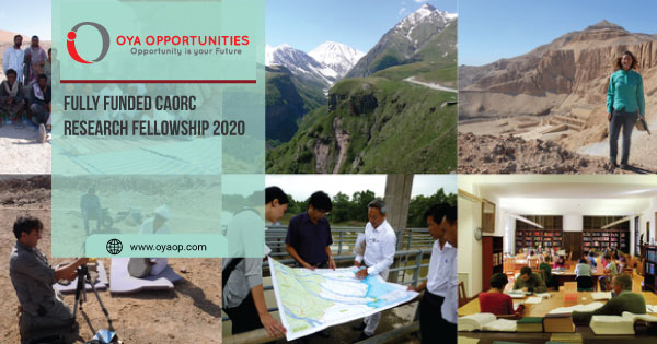 Fully Funded CAORC Research Fellowship 2020