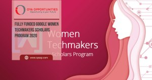 Fully Funded Google Women Techmakers Scholars Program 2020