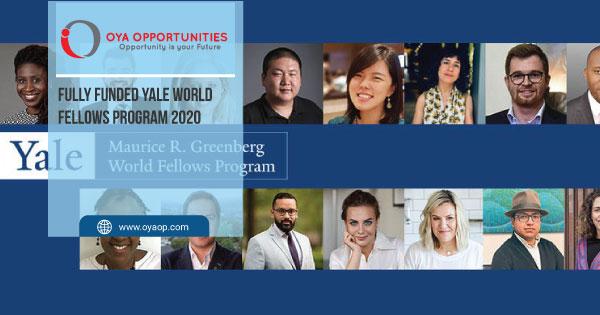 Fully Funded Yale World Fellows Program 2020