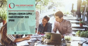 Johnson & Johnson Supply Chain Internship 2020 Spring