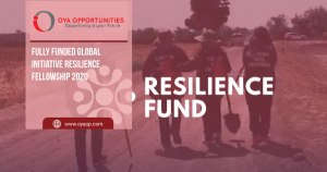 Fully Funded Global Initiative Resilience Fellowship 2020