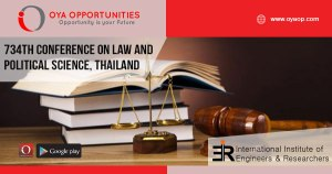 734th Conference on Law and Political Science, Thailand