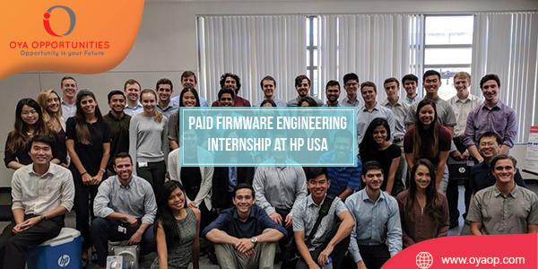 Paid Firmware Engineering Internship at HP USA
