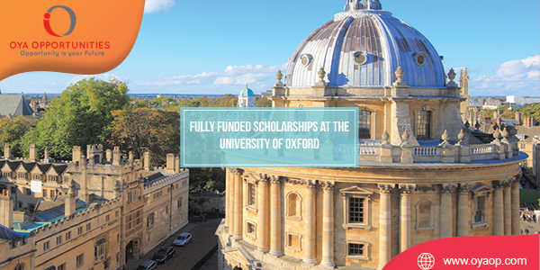 Fully Funded Scholarships at the University of Oxford