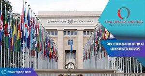 Public Information Intern at UN in Switzerland 2020