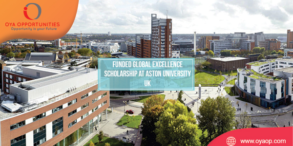 Funded Global Excellence Scholarship at Aston University UK