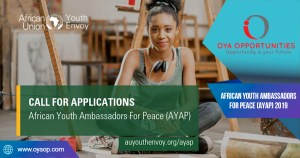 African Youth Ambassadors For Peace (AYAP) 2019