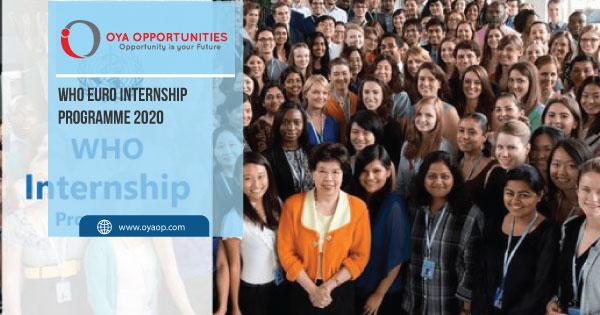 WHO EURO Internship Programme 2020