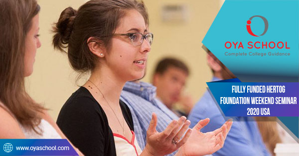Fully Funded Hertog Foundation Weekend Seminar 2020 USA