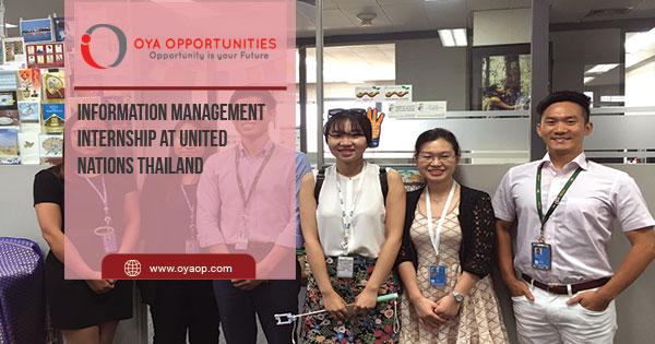 Information Management Internship at United Nations Thailand