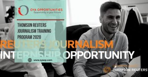 Thomson Reuters Journalism Training Program 2020