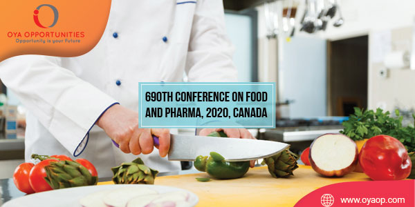 690th Conference on Food and Pharma, 2020, Canada