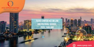 753rd Conference on Law and Political Science, 2020, Thailand