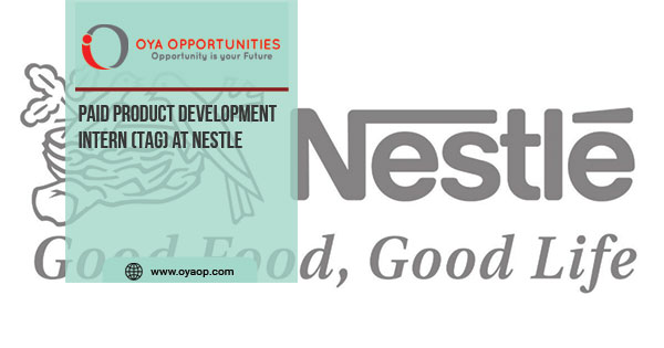 Paid Product Development Intern (TAG) at Nestle