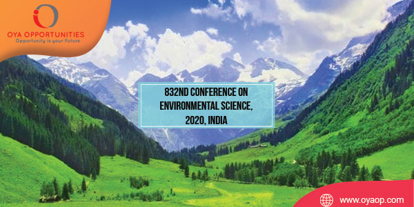 832nd Conference on Environmental Science, 2020, India