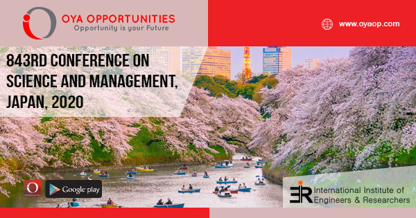 843rd Conference on Science and Management, Japan, 2020