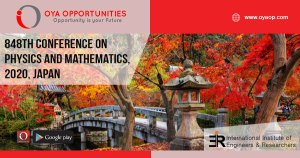 848th Conference on Physics and Mathematics, 2020, Japan