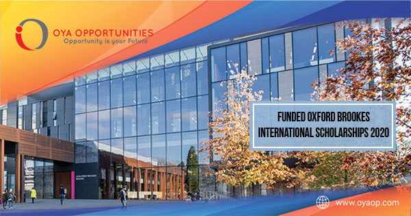 Funded Oxford Brookes International Scholarships 2020