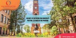 Job Vacancy at Southern Utah University