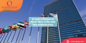 Job Vacancy at United Nations, New York