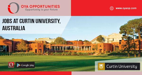 Jobs at Curtin University, Australia