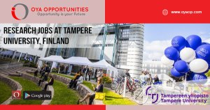 Jobs at Tampere University, Finland