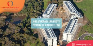 Research Job at Monash University, Australia
