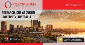 Research Jobs at Curtin University, Australia
