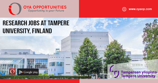 Research Jobs at Tampere University, Finland