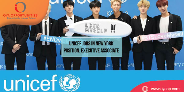 UNICEF Jobs in New York Position: Executive Associate