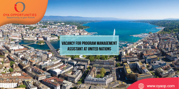 Vacancy for Program Management Assistant at United Nations