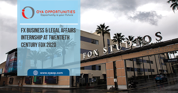 FX Business & Legal Affairs Internship at Twentieth Century Fox 2020