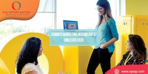 Summer Marketing Internship at Unilever 2020