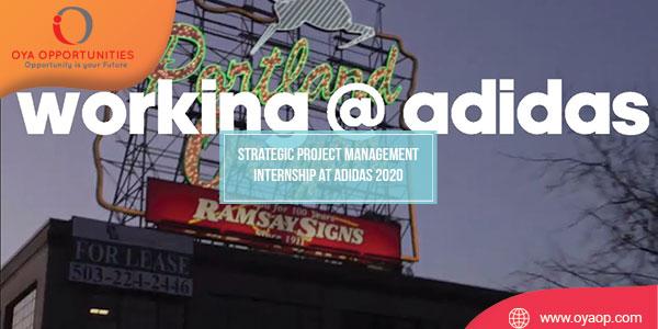 Strategic Project Management Internship at Adidas 2020