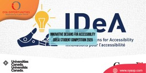 Innovative Designs for Accessibility (IDeA) Student Competition 2020