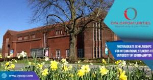 Postgraduate Scholarships for International Students at University of Southhampton