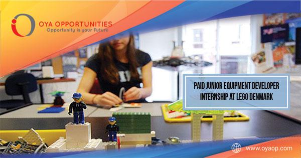 Paid Junior Equipment Developer Internship at LEGO Denmark