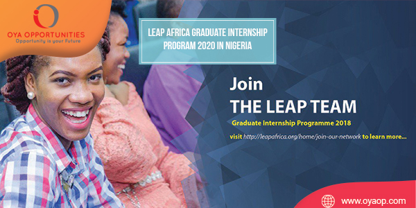 LEAP Africa Graduate Internship Program 2020 in Nigeria
