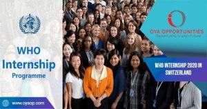 WHO Internship 2020 in Switzerland