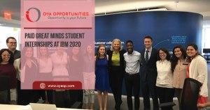 Paid Great Minds Student Internships at IBM 2020