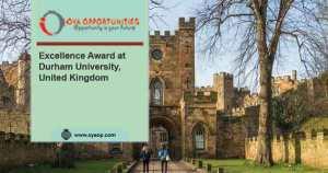 Excellence Award at Durham University, United Kingdom