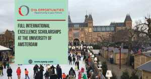 Full International Excellence Scholarships at the University of Amsterdam