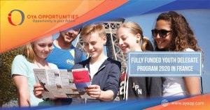 Fully Funded Youth Delegate Program 2020 in France