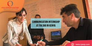 Internship at FHI 360 in Kenya (Graphic Design)