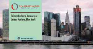 Political Affairs Vacancy at United Nations, New York