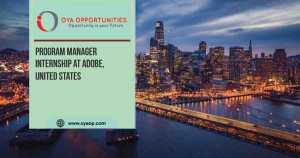 Program Manager Internship at Adobe, United States