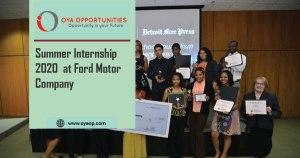 Summer Internship 2020 on Communications at Ford