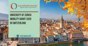 University of Zurich Mobility Grant 2020 in Switzerland