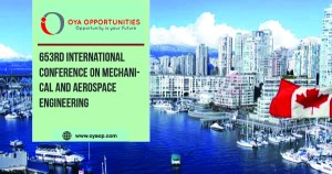 653rd International Conference On Mechanical and Aerospace Engineering